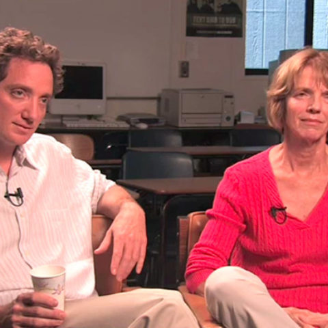 With son Mark Churchland, 2014 interview