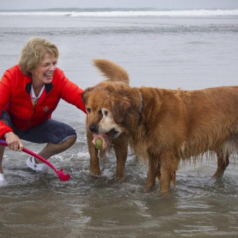 With Duff and Farley, Dog Beach, Del Mar