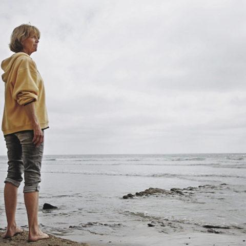 Watching the tide, Del Mar, CA