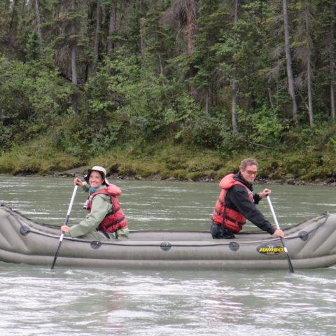 Anne and Mark, Nahanni River, Nunavit